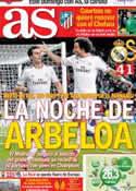 Portada diario AS del 28 de Noviembre de 2013