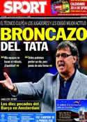 Portada diario Sport del 28 de Noviembre de 2013