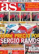 Portada diario AS del 29 de Noviembre de 2013