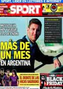 Portada diario Sport del 29 de Noviembre de 2013