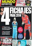Portada Mundo Deportivo del 29 de Noviembre de 2013
