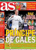 Portada diario AS del 1 de Diciembre de 2013