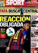 Portada diario Sport del 1 de Diciembre de 2013