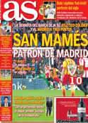 Portada diario AS del 2 de Diciembre de 2013