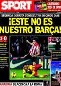 Portada diario Sport del 2 de Diciembre de 2013