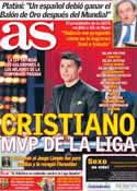 Portada diario AS del 3 de Diciembre de 2013