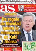 Portada diario AS del 5 de Diciembre de 2013