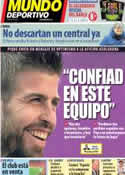 Portada Mundo Deportivo del 5 de Diciembre de 2013