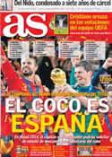 Portada diario AS del 6 de Diciembre de 2013