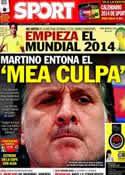 Portada diario Sport del 6 de Diciembre de 2013