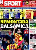 Portada diario Sport del 7 de Diciembre de 2013