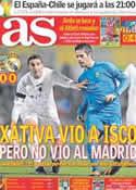 Portada diario AS del 8 de Diciembre de 2013