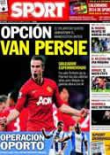 Portada diario Sport del 8 de Diciembre de 2013