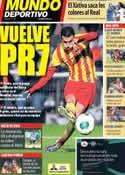 Portada Mundo Deportivo del 8 de Diciembre de 2013