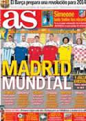 Portada diario AS del 9 de Diciembre de 2013