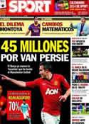 Portada diario Sport del 9 de Diciembre de 2013