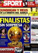 Portada diario Sport del 10 de Diciembre de 2013
