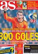 Portada diario AS del 11 de Diciembre de 2013