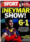 Portada diario Sport del 12 de Diciembre de 2013