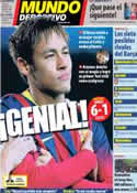 Portada Mundo Deportivo del 12 de Diciembre de 2013