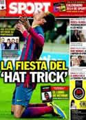 Portada diario Sport del 13 de Diciembre de 2013