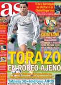 Portada diario AS del 14 de Diciembre de 2013