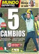 Portada Mundo Deportivo del 14 de Diciembre de 2013