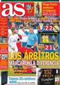 Portada diario AS del 15 de Diciembre de 2013