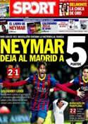 Portada diario Sport del 15 de Diciembre de 2013