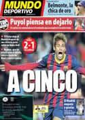 Portada Mundo Deportivo del 15 de Diciembre de 2013