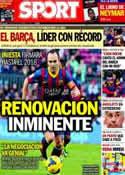 Portada diario Sport del 16 de Diciembre de 2013