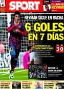 Portada diario Sport del 18 de Diciembre de 2013