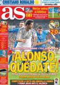 Portada diario AS del 19 de Diciembre de 2013
