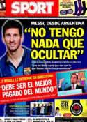 Portada diario Sport del 20 de Diciembre de 2013