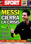 Portada diario Sport del 22 de Diciembre de 2013