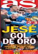 Portada diario AS del 23 de Diciembre de 2013