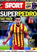 Portada diario Sport del 23 de Diciembre de 2013