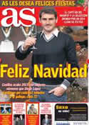 Portada diario AS del 24 de Diciembre de 2013
