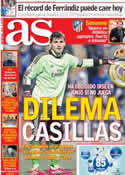Portada diario AS del 27 de Diciembre de 2013