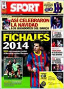 Portada diario Sport del 27 de Diciembre de 2013