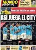 Portada Mundo Deportivo del 27 de Diciembre de 2013