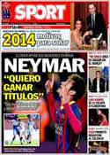 Portada diario Sport del 28 de Diciembre de 2013