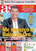 Portada diario AS del 29 de Diciembre de 2013