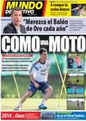 Portada Mundo Deportivo del 29 de Diciembre de 2013