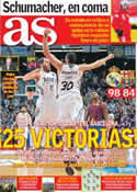 Portada diario AS del 30 de Diciembre de 2013