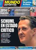 Portada Mundo Deportivo del 30 de Diciembre de 2013