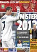 Portada diario Marca del 31 de Diciembre de 2013