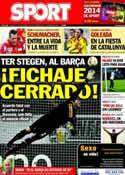 Portada diario Sport del 31 de Diciembre de 2013