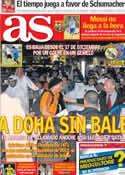 Portada diario AS del 2 de Enero de 2014
