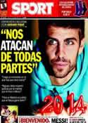 Portada diario Sport del 2 de Enero de 2014
